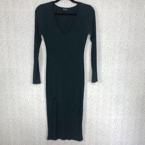 Nasty Gal Midi Ribbed Knit Dress
